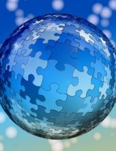 Connected World Puzzle Piece Globe